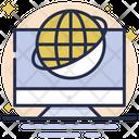 Worldwide Around The World International Icon