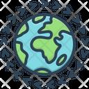 Worldwide Map Earth Icon
