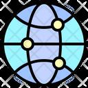 Globe Network Message Icon
