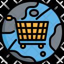 Worldwide World Cart Icon