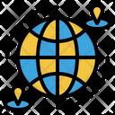Worldwide Global Communication Internet Netwoork Icon