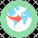 Worldwide International Around Icon
