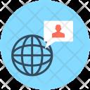 Worldwide User Global Icon