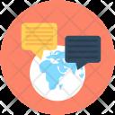 Worldwide Communication Globe Icon