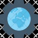 Worldwide Cog Globe Icon