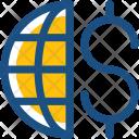 Worldwide Business Dollar Icon