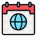 Worldwide Calendar Office Calendar Icon
