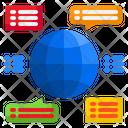 Worldwide Communication Worldwide Chat World Icon