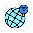 Worldwide Wifi Connection Icon