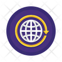 Worldwide Coverage Global Network Connection Icon