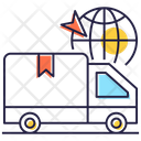 Delivery Van Shipping Truck Shipment Icon