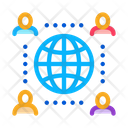 Worldwide Outsource Employees Icon