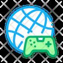 Worldwide Playing Game Icon