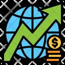 Global Growth Arrow Money Icon
