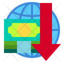 Global Down Arrow Currency Icon