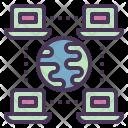 Worldwide Network Computer Icon