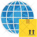 Logistics Delivery World Icon