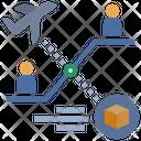 Worldwide Shipping Global Logistics International Logistics Icon