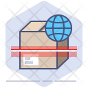 Worldwide shipping scan Icon