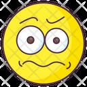 Worried Emoji Icon