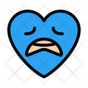 Worried Face Heart Icon