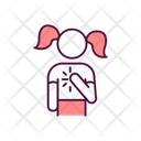 Worried Girl Icon