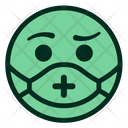 Green Mask Medical Icon