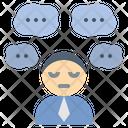 Worry Stress Serious Icon