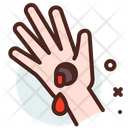 Wounds Injured Hand Wound Icon