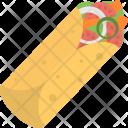 Tortilla Wrap Fajita Icon