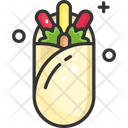 Wrap Tacos Fast Food Icon