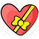 Wrapped Heart Heart Gift Love Symbol Icon