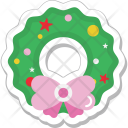Wreath Christmas Ornament Icon