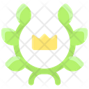 Business Finance Wreath Crown Icon
