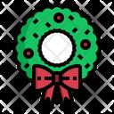 Wreath Decoration Element Icon