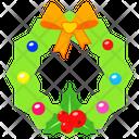 Wreath Decoration Xmas Icon