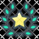 Wreath Star Laurel Wreath Icon