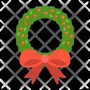 Wreath Bow Christmas Icon