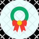 Bow Wreath Christmas Icon