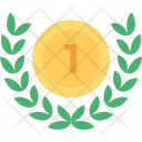 Wreath Medal Gold Icon
