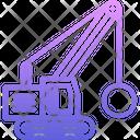 Wrecking ball machine Icon