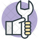 Wrench Human Hand Icon