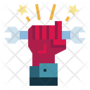 Wrench Labor Day Worker Icon