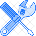 Adjustable Wrench Screwdriver Icon