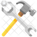 Wrench And Hammer Wrench Hammer Icon