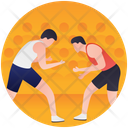 Wrestling Olympics Game Martial Arts Icon