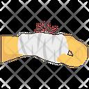 Wrist Bandage Accident Concept Wrist Pain Icon