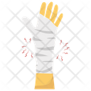 Wrist Bandage Accident Concept Wrist Pain Icon