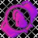 Valentine Day Handwatch Heart Icon
