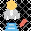 Write Businessman Contract Sigm Icon